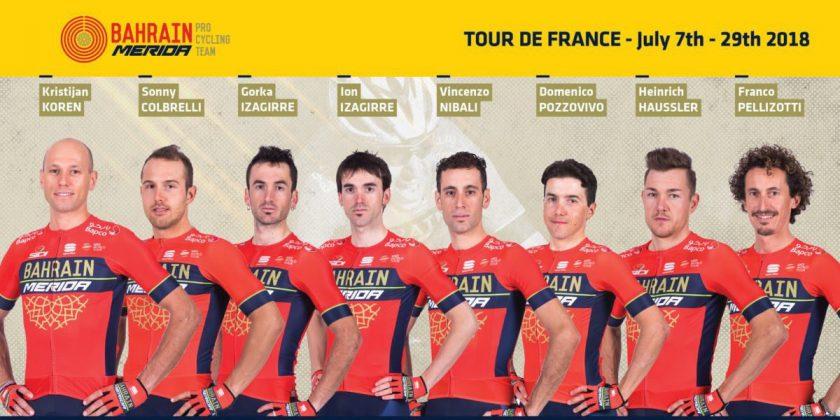 バーレーン・メリダのWebサイトより。ツール・ド・フランスの出場メンバーが発表された